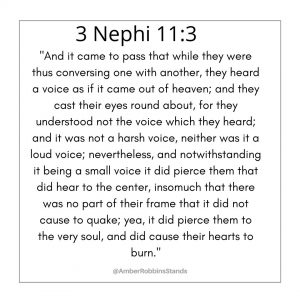 Words for scripture 3 Nephi 11:3 in Book of Mormon